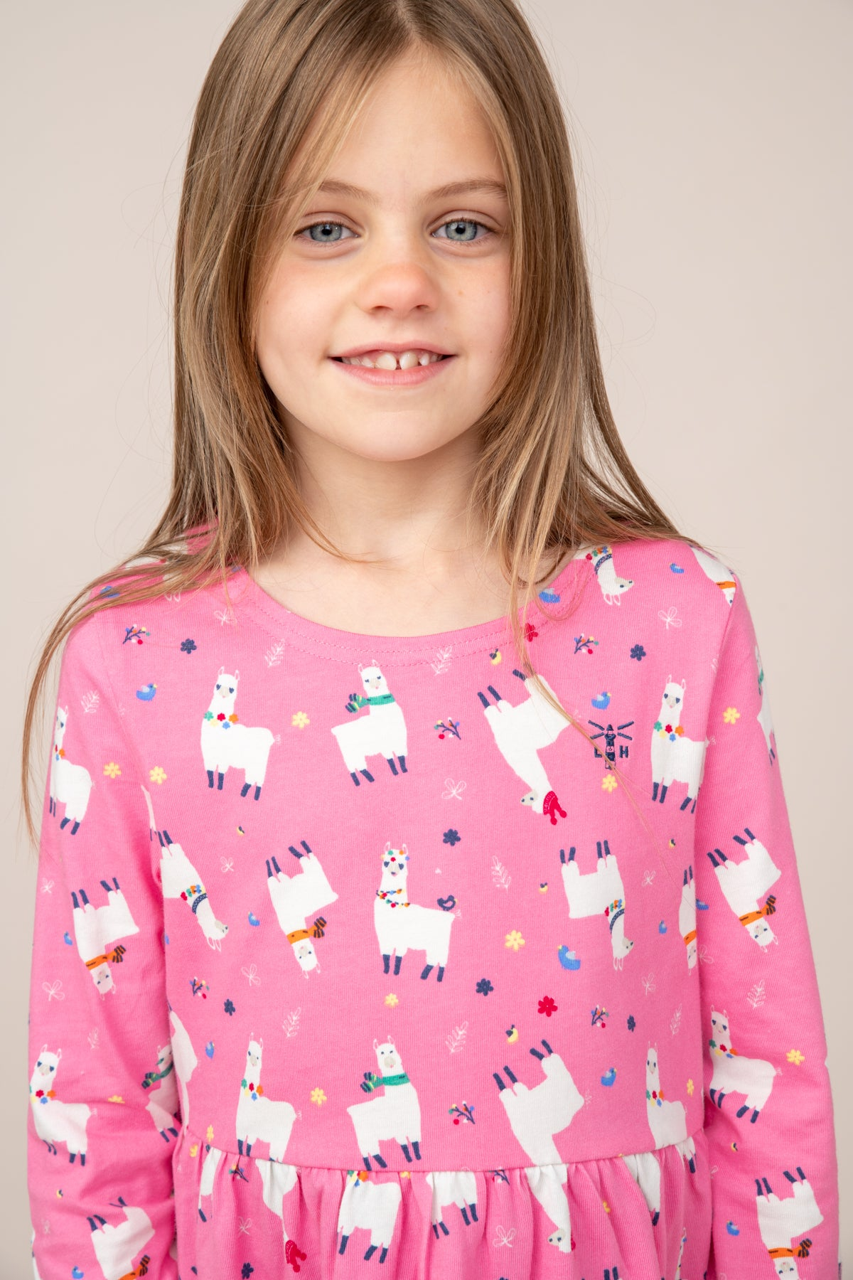 Ellie Dress - Llama Print