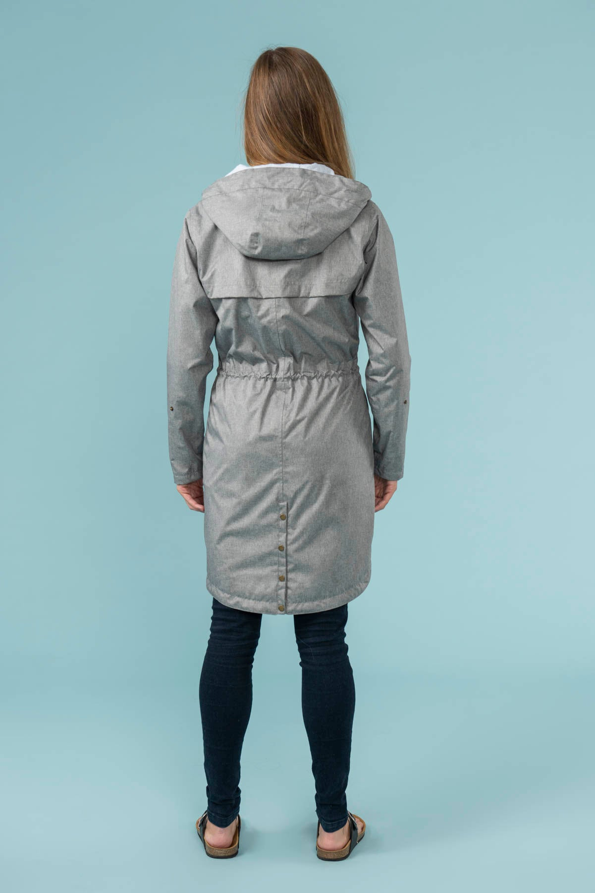Women's Coats - Emily - Grey Raincoat