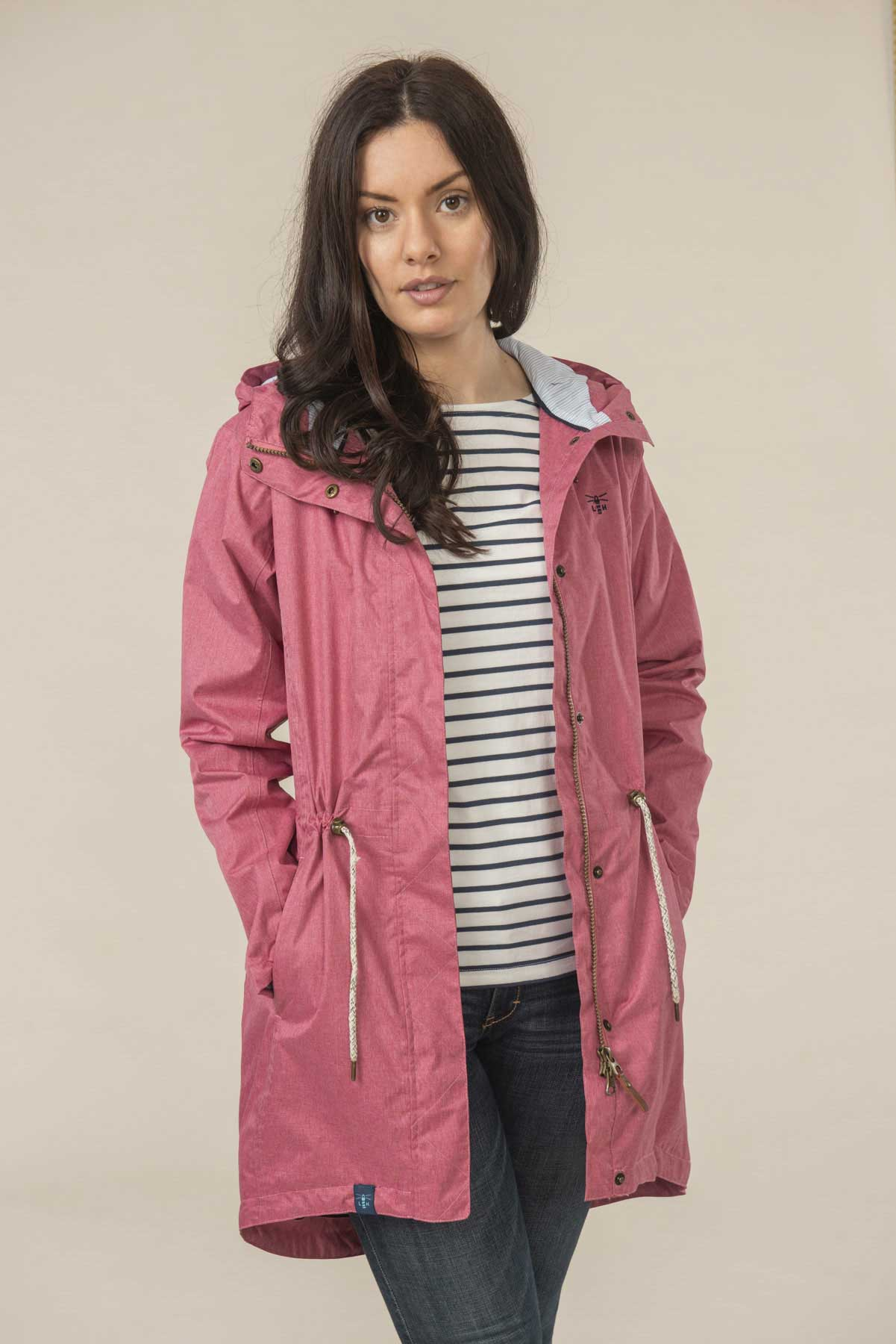 Women's Coats - Emily - Red Raincoat