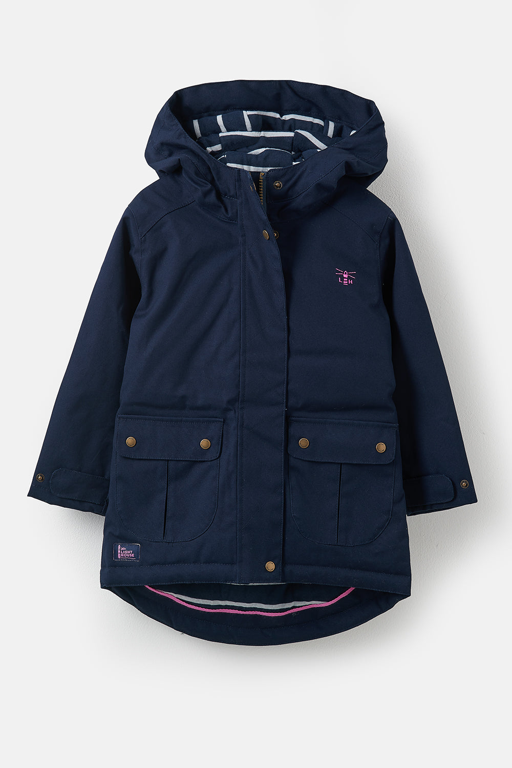 Lighthouse Emma Girls Warm Waterproof Raincoat - Navy
