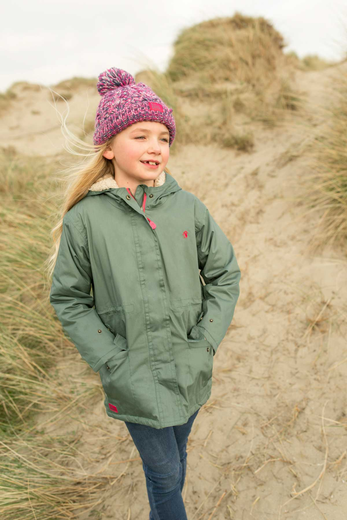 Lighthouse Erin - Girls Warm Waterproof Coat - Green