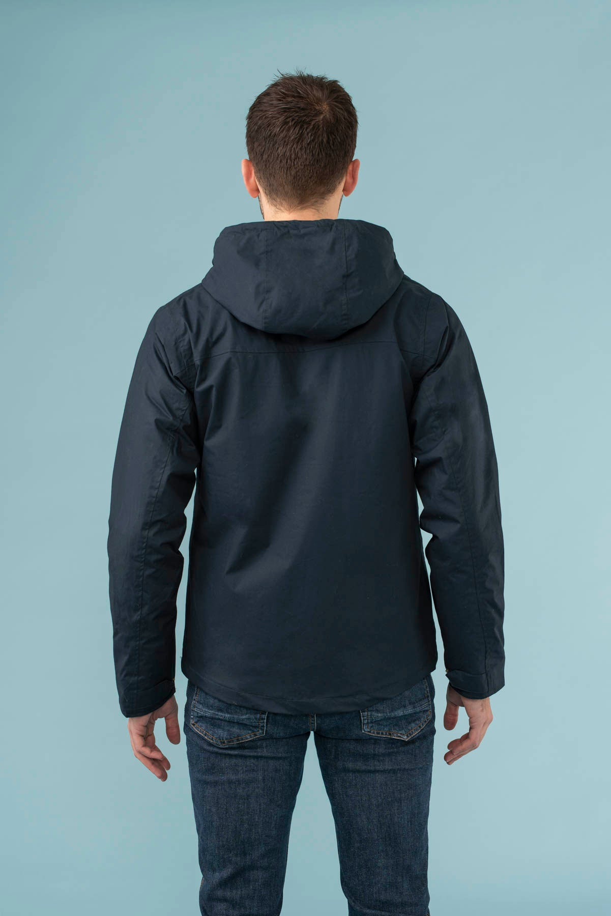 Faroe Coat. Men's Warm Raincoat in Navy | Lighthouse