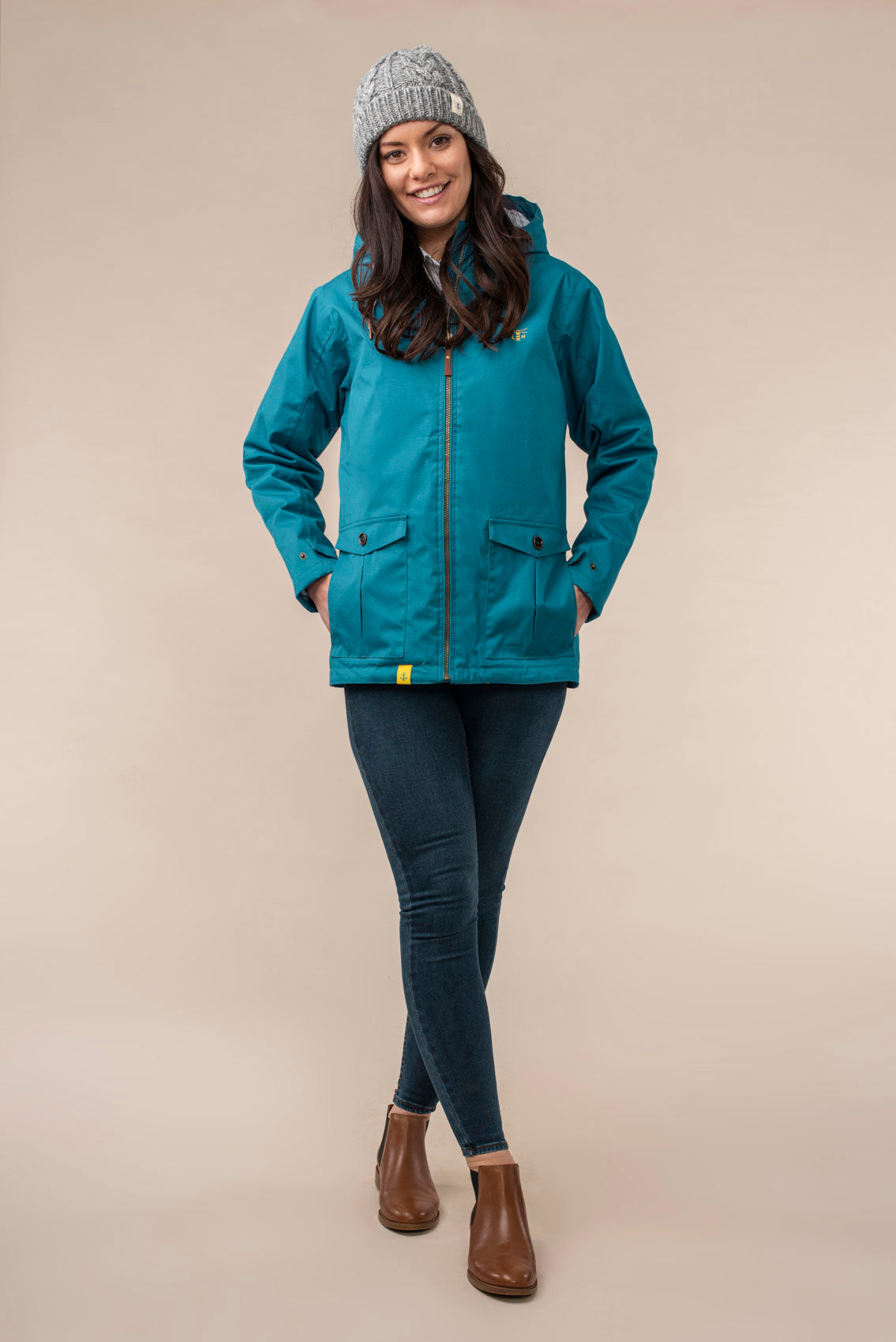 Lighthouse Faye - Women's Warm Padded Raincoat - Ocean Deep