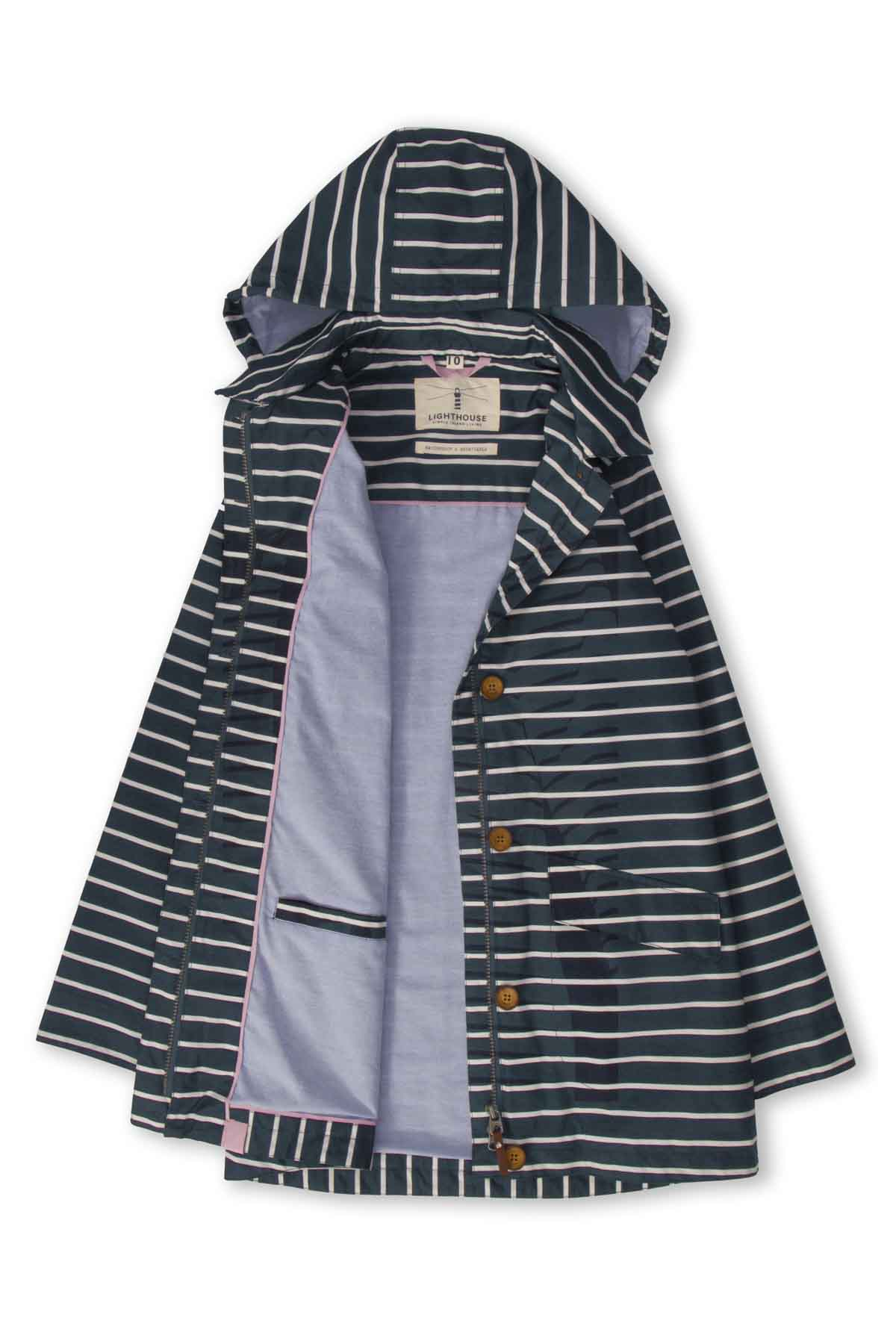 Lighthouse Abby Women's Waterproof Jacket - Midnight Stripe