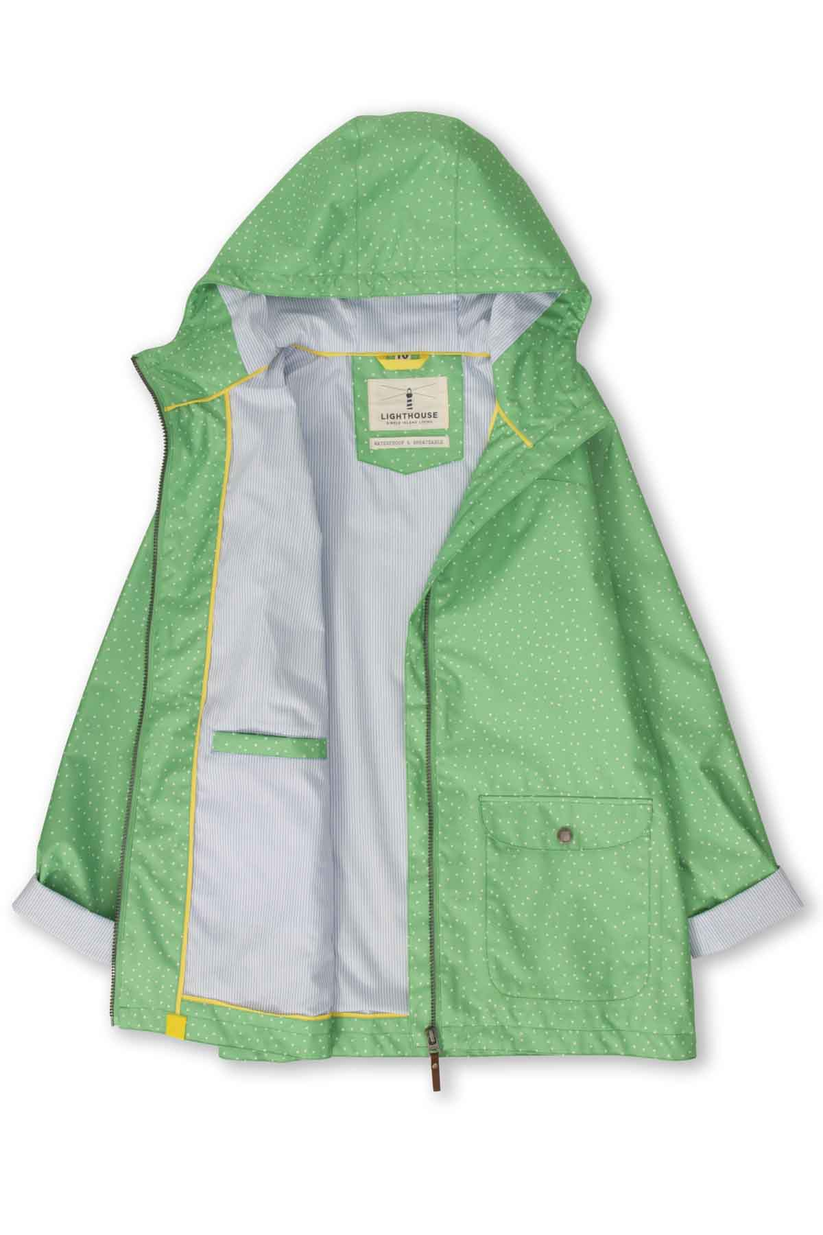 Lighthouse Anya Women's Waterproof Jacket - Seagrass Dot