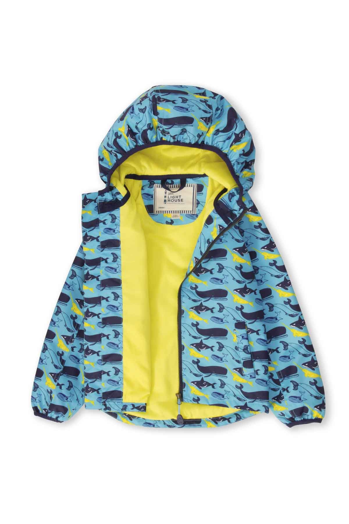 Lighthouse Atlantic Boy's Waterproof Jacket - Whale Print