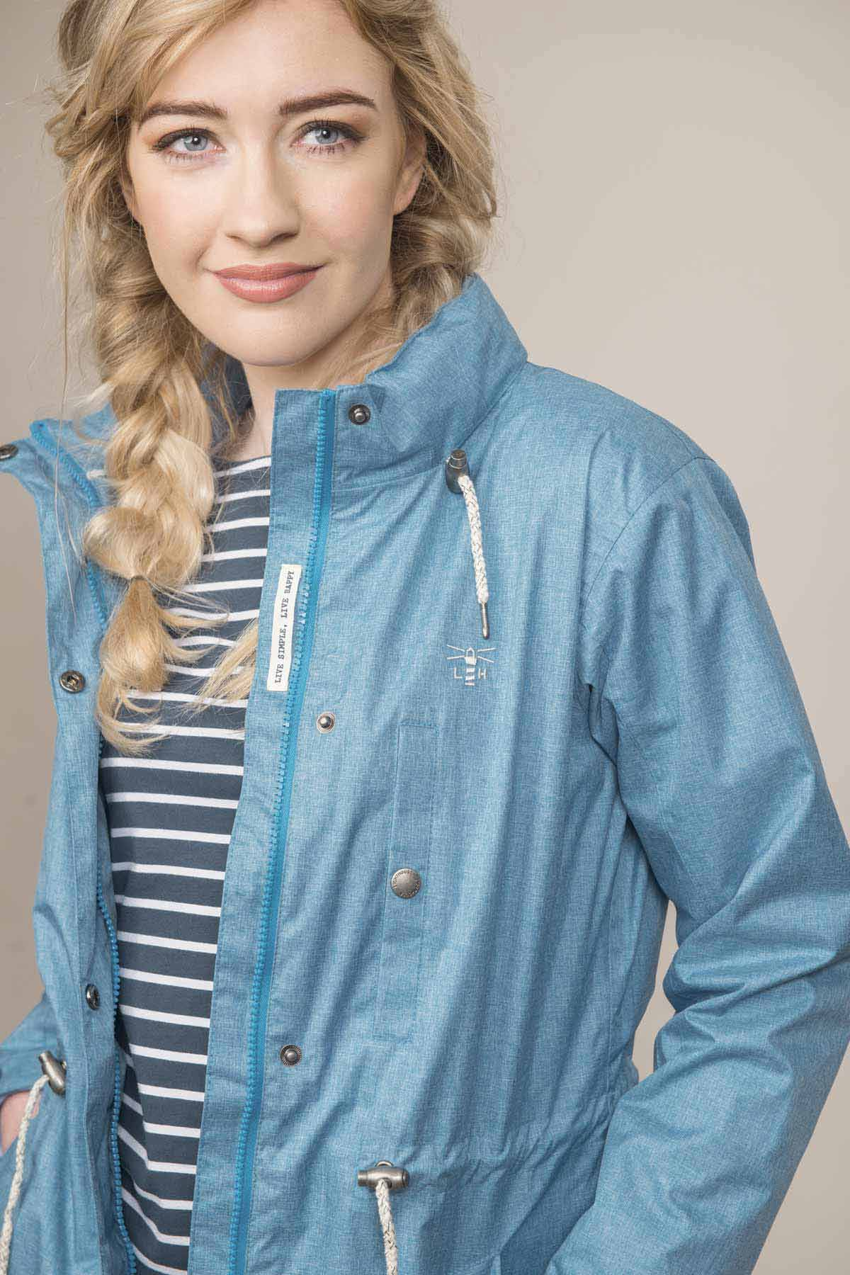 Lighthouse Fran women's blue waterproof coat