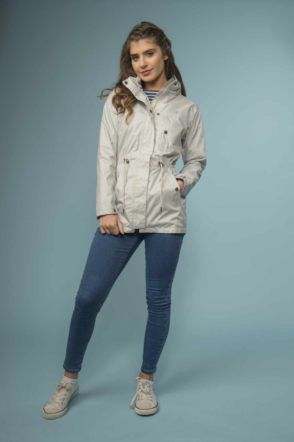 Lighthouse Fran women's light grey waterproof coat