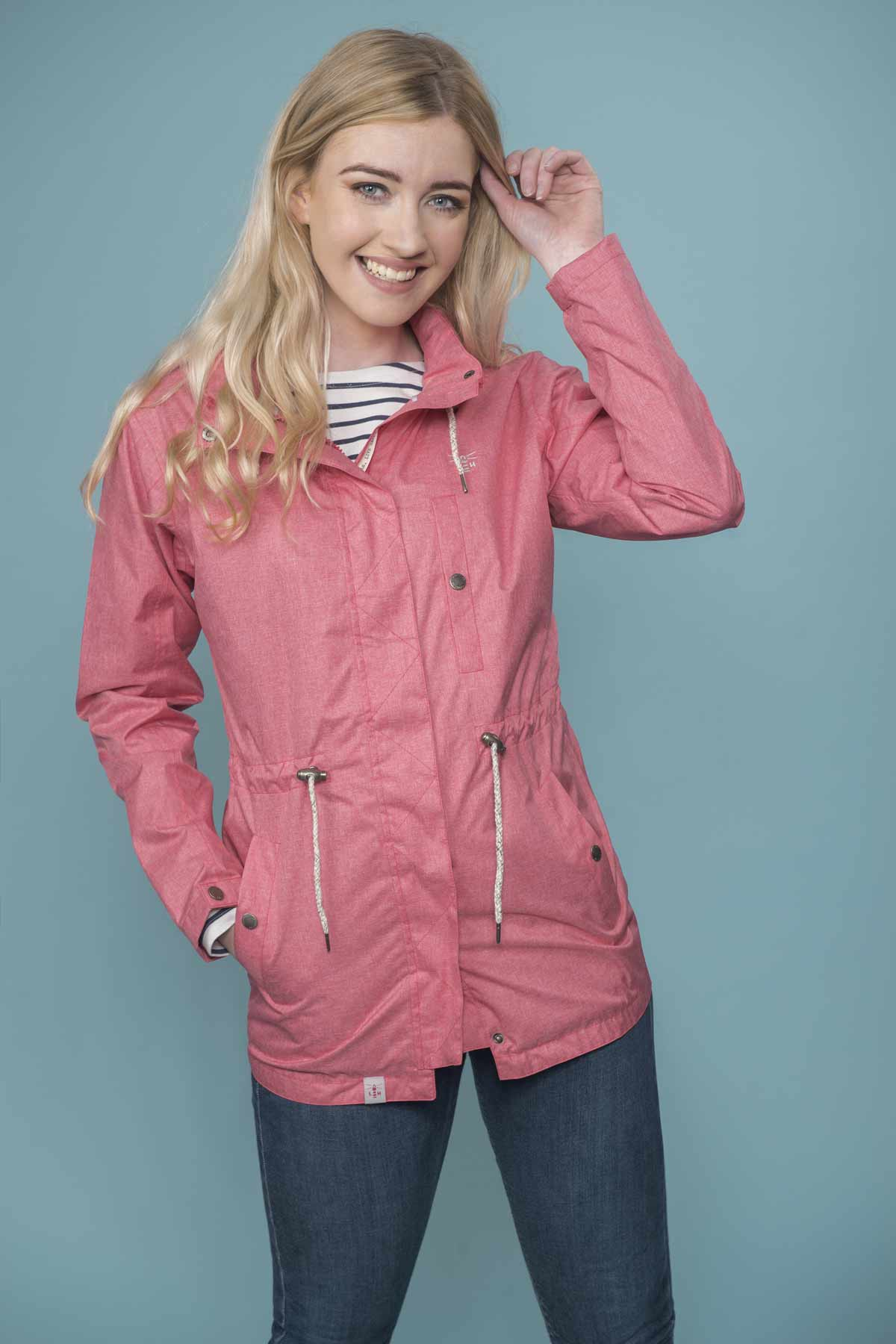 Lighthouse Fran women's red waterproof coat