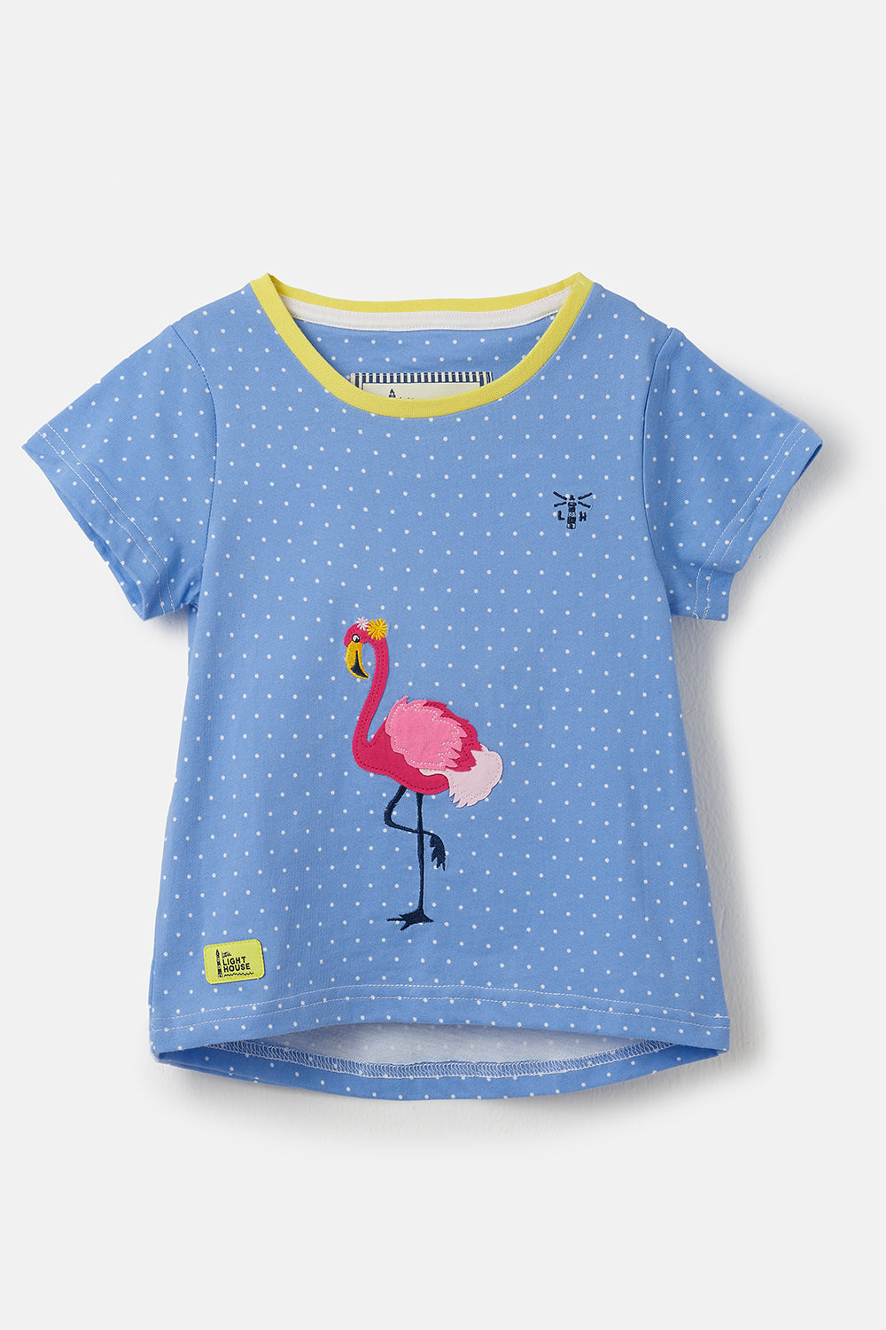 Causeway Short Sleeve - Flamingo Appliqué