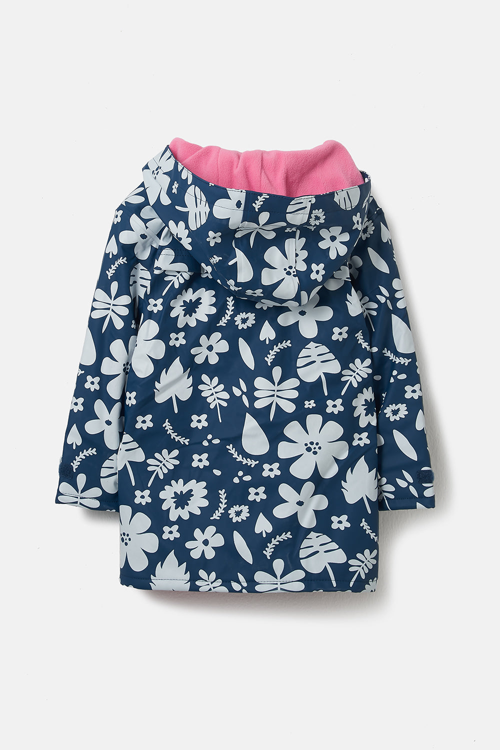 Lighthouse Amy Girls Waterproof Rubber Raincoat - Blue Floral
