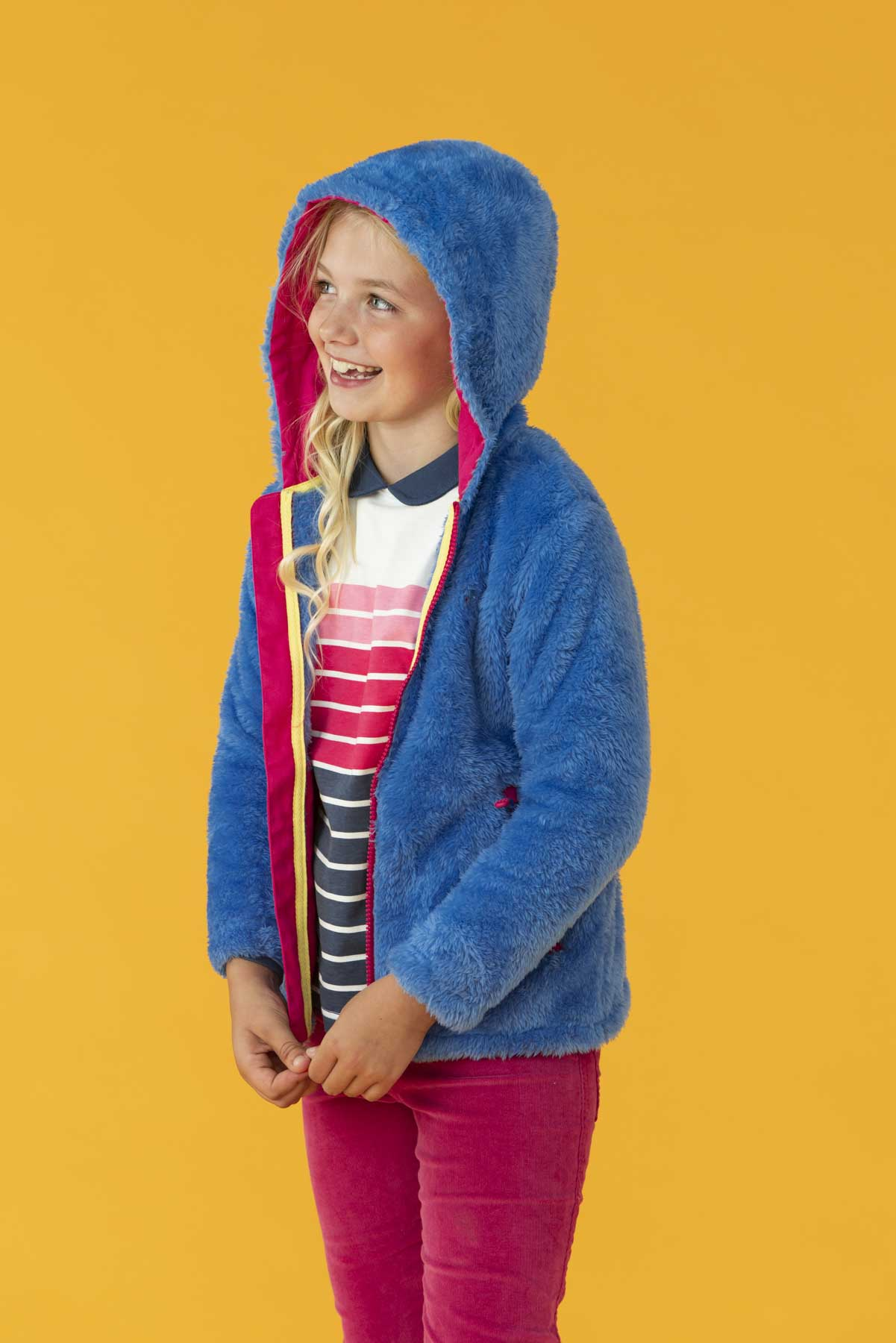Gracie Fleece - Blue, Girl's Full Zip Fleece | Lighthouse