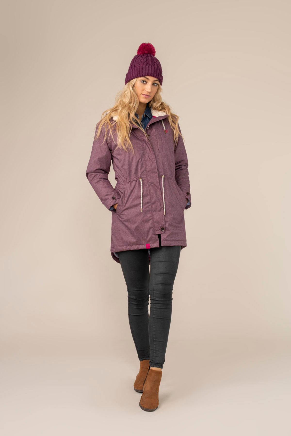Harper Coat - Plum