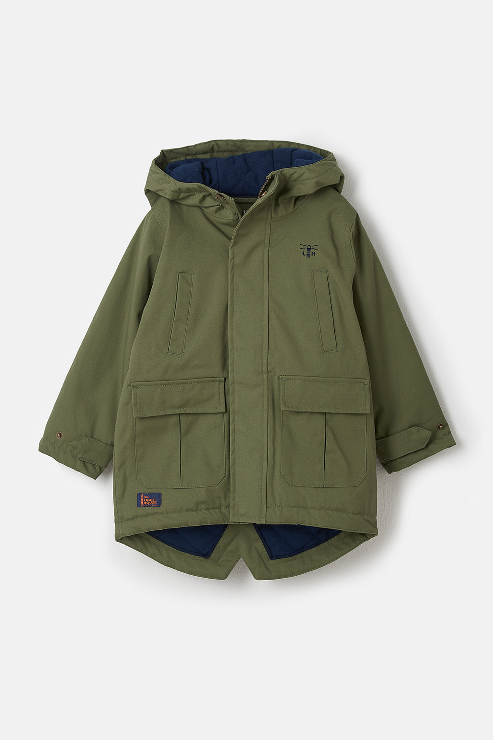 Lighthouse Harrison Boys Warm Waterproof Coat - Green