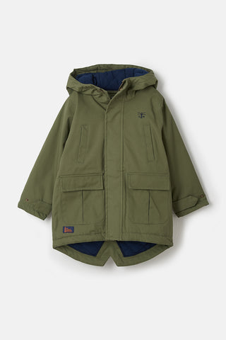 Raincoat with warm lining