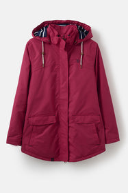 Iona Coat - Deep Red