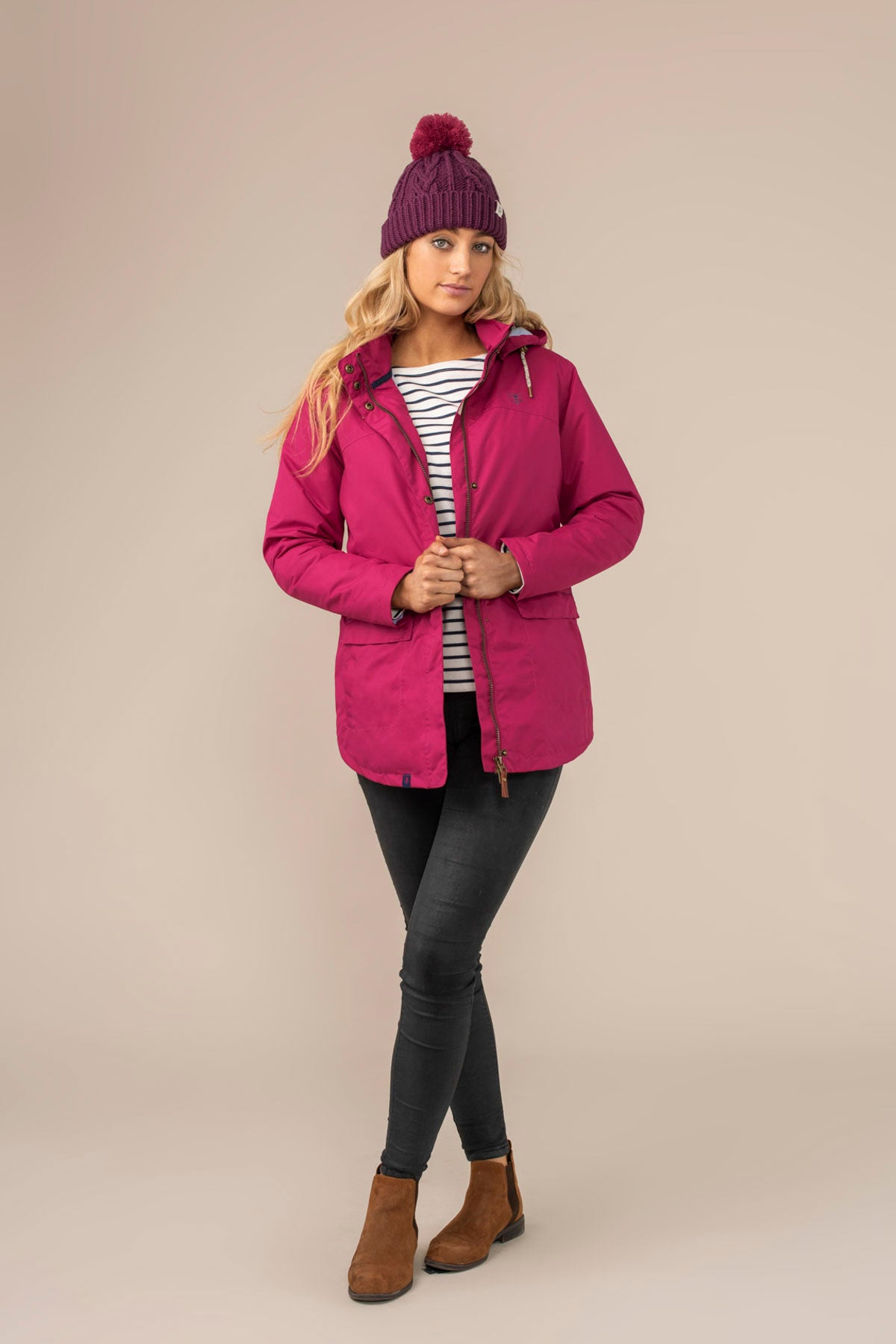 Iona Coat - Jazzberry