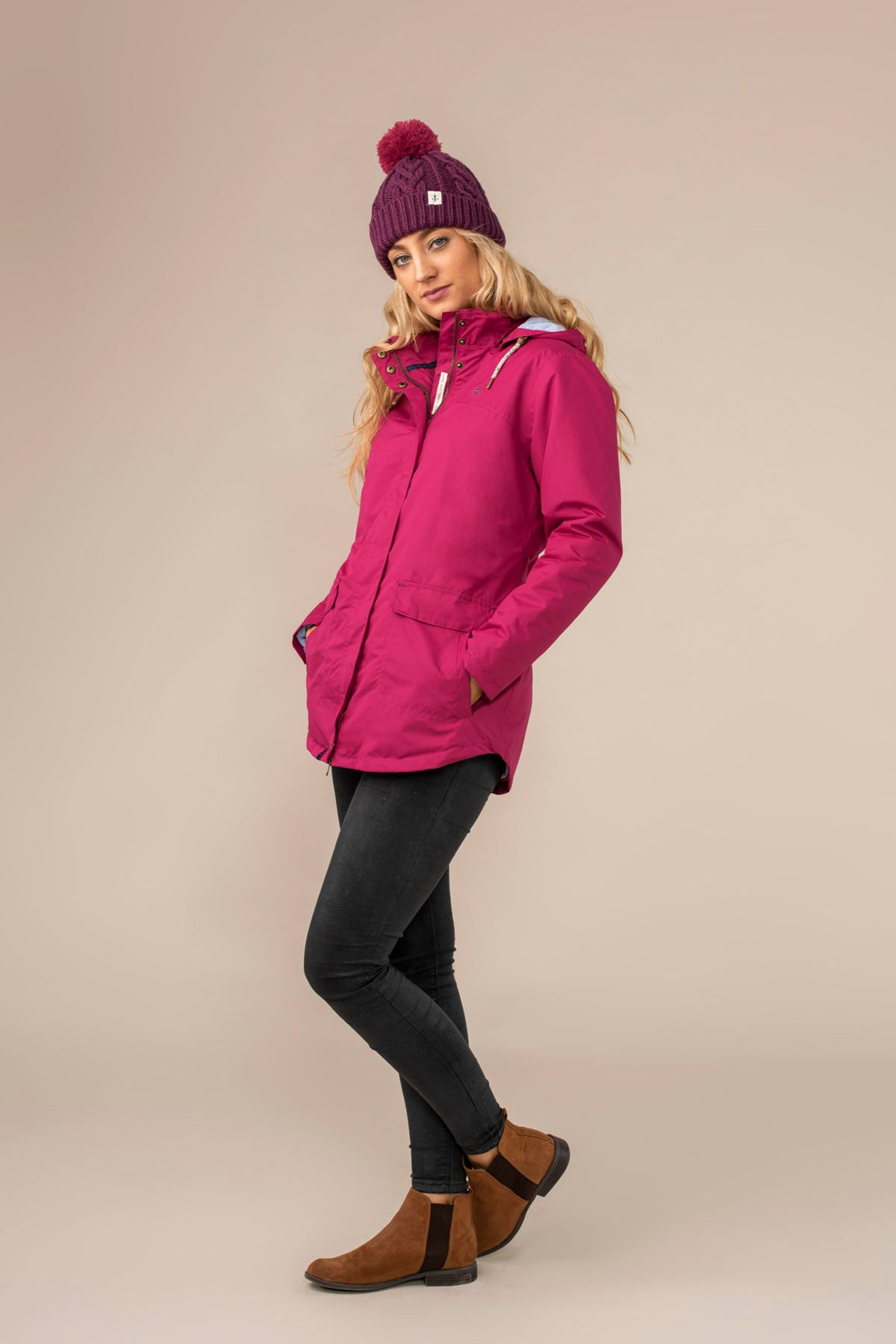 Iona Coat. Warm Women's Pink Raincoat | Lighthouse