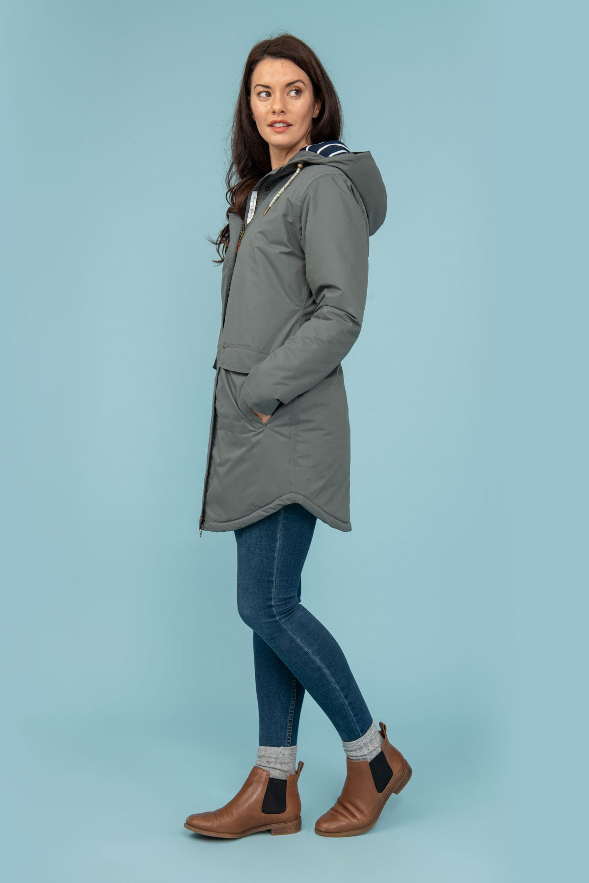Long Iona Coat - Grey