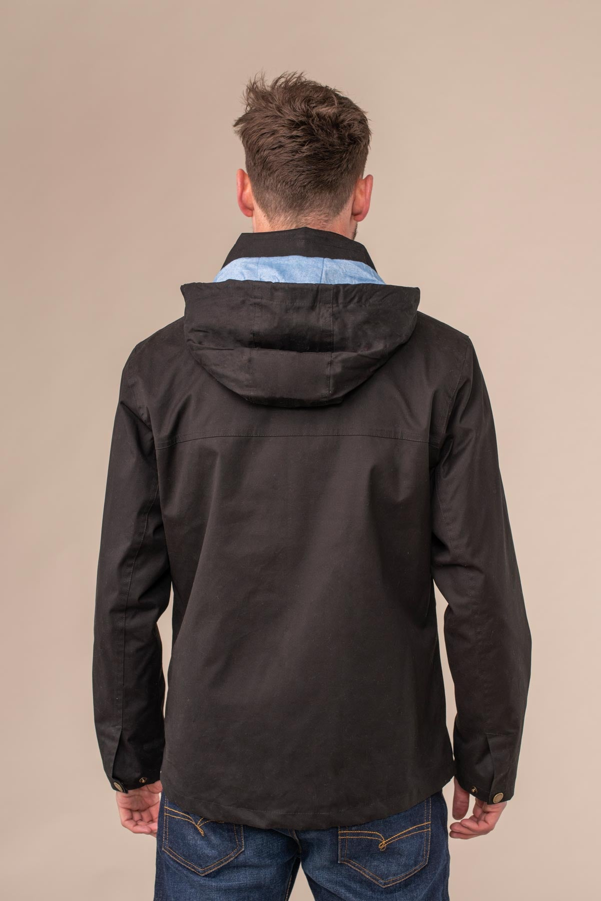 Islander Jacket - Black. Mens Waterproof Raincoat | Lighthouse