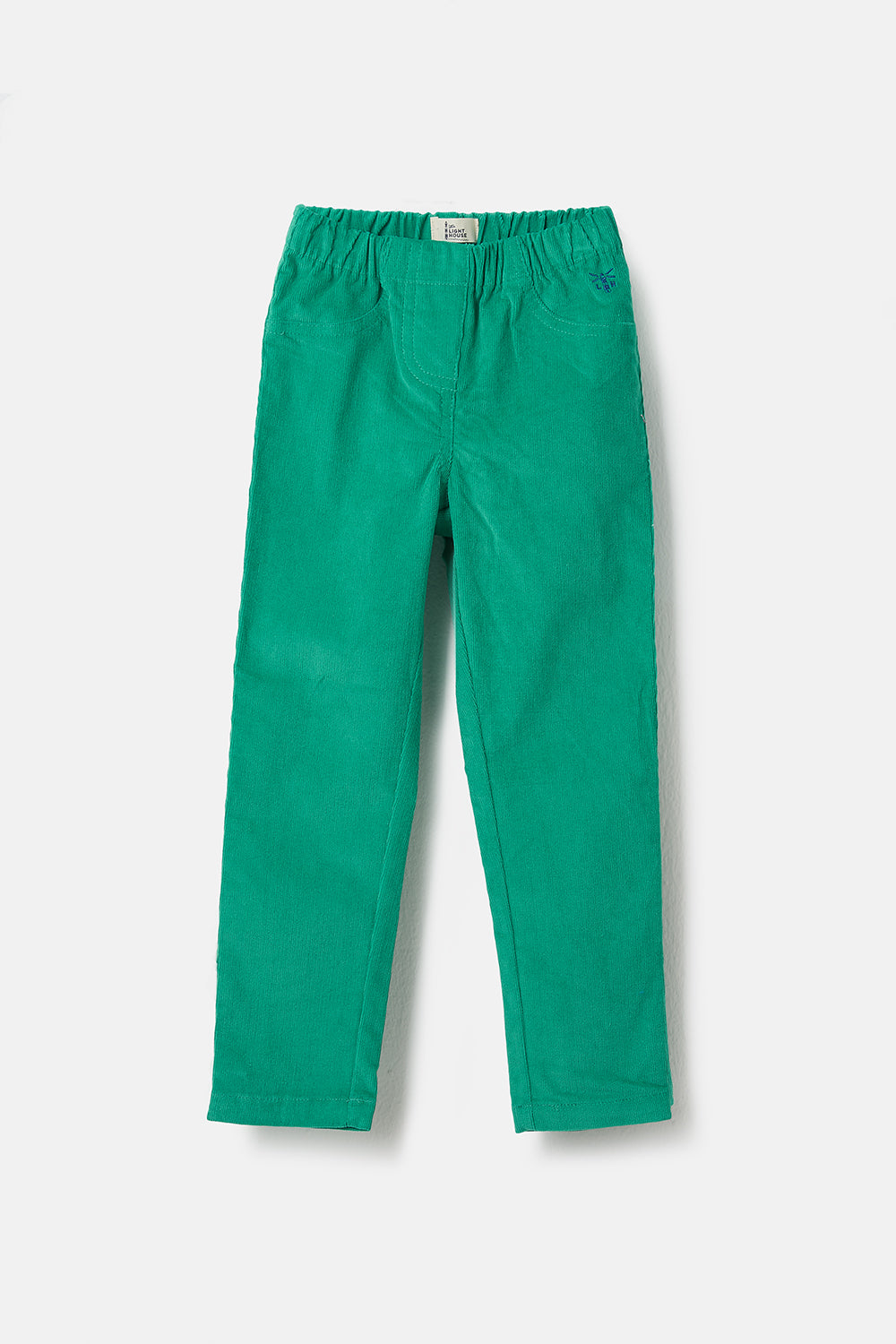 Izzy Trousers - Green, Girl's Cord Leggings | Lighthouse