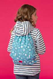 Drawstring Bag - Seashell Print