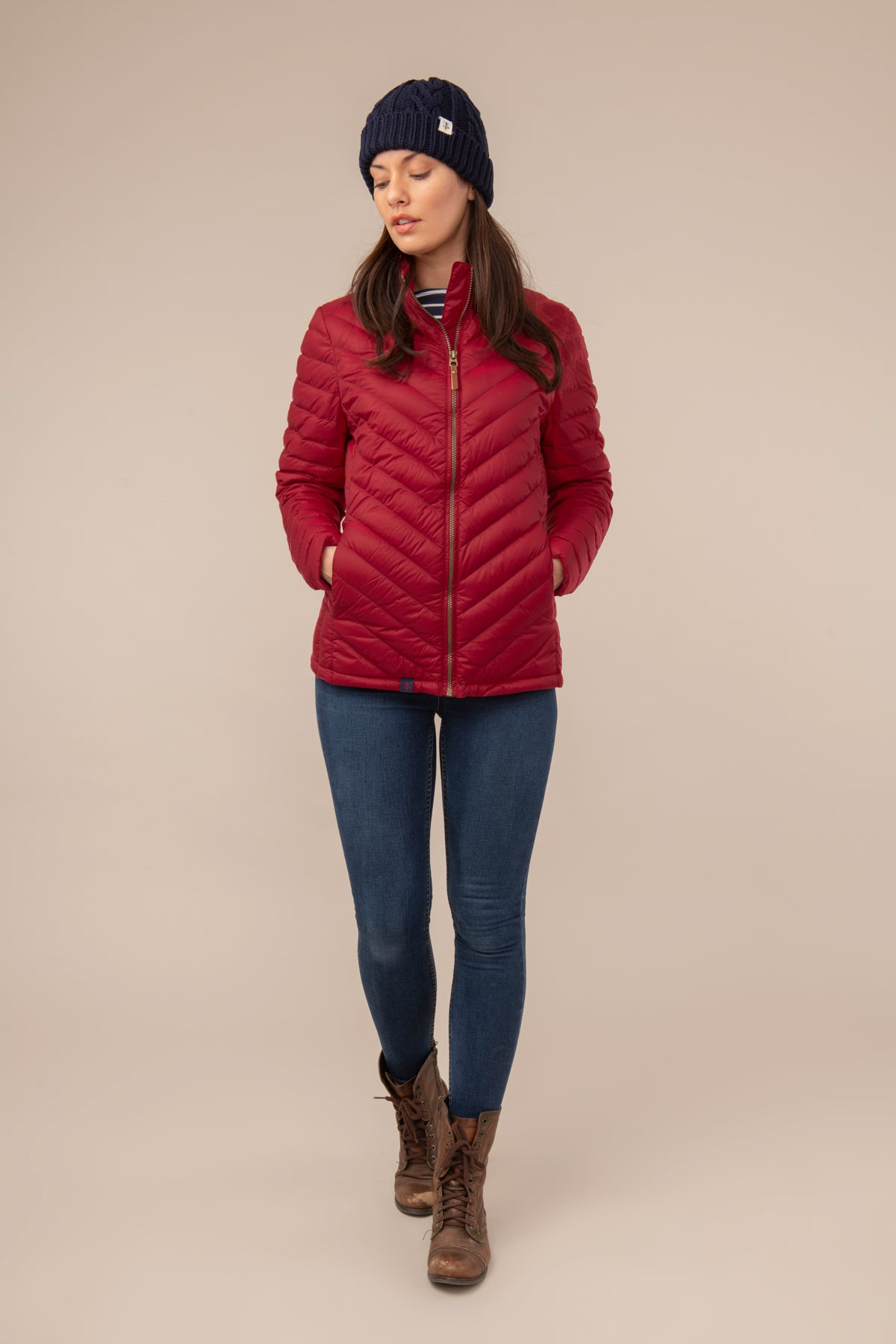 Lighthouse Lara Womens Lightweight Warm Down Jacket - Red