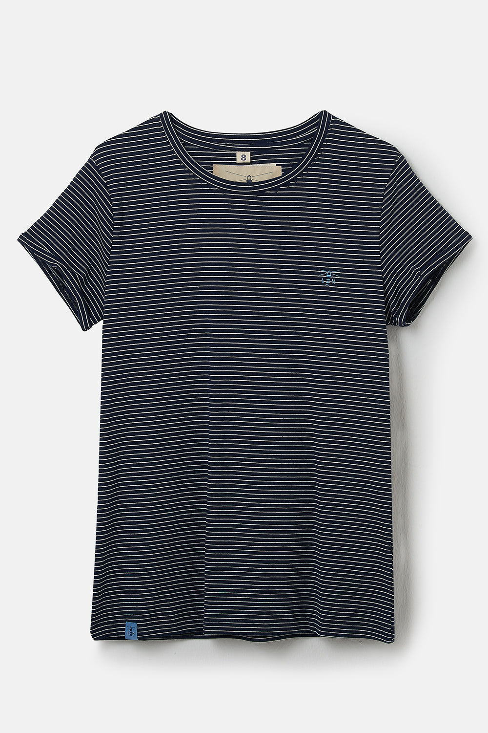 Lighthouse Seashore Women's T-Shirt Midnight Stripe