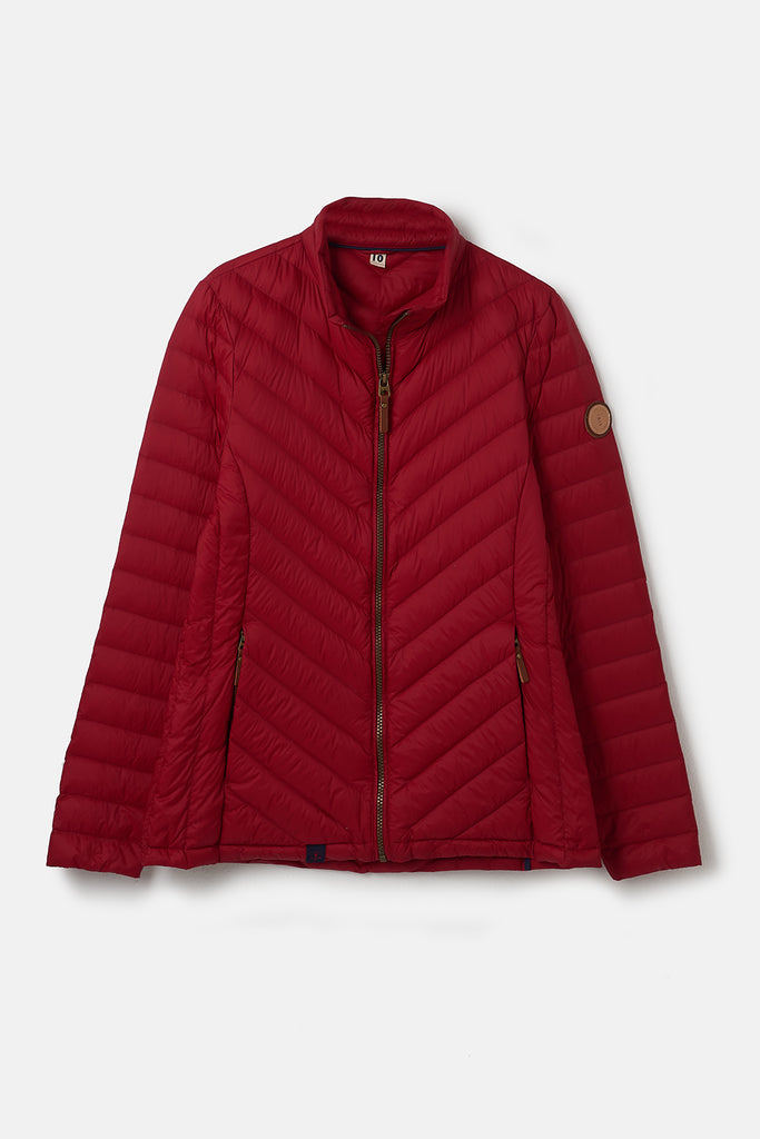 red duck down jacket