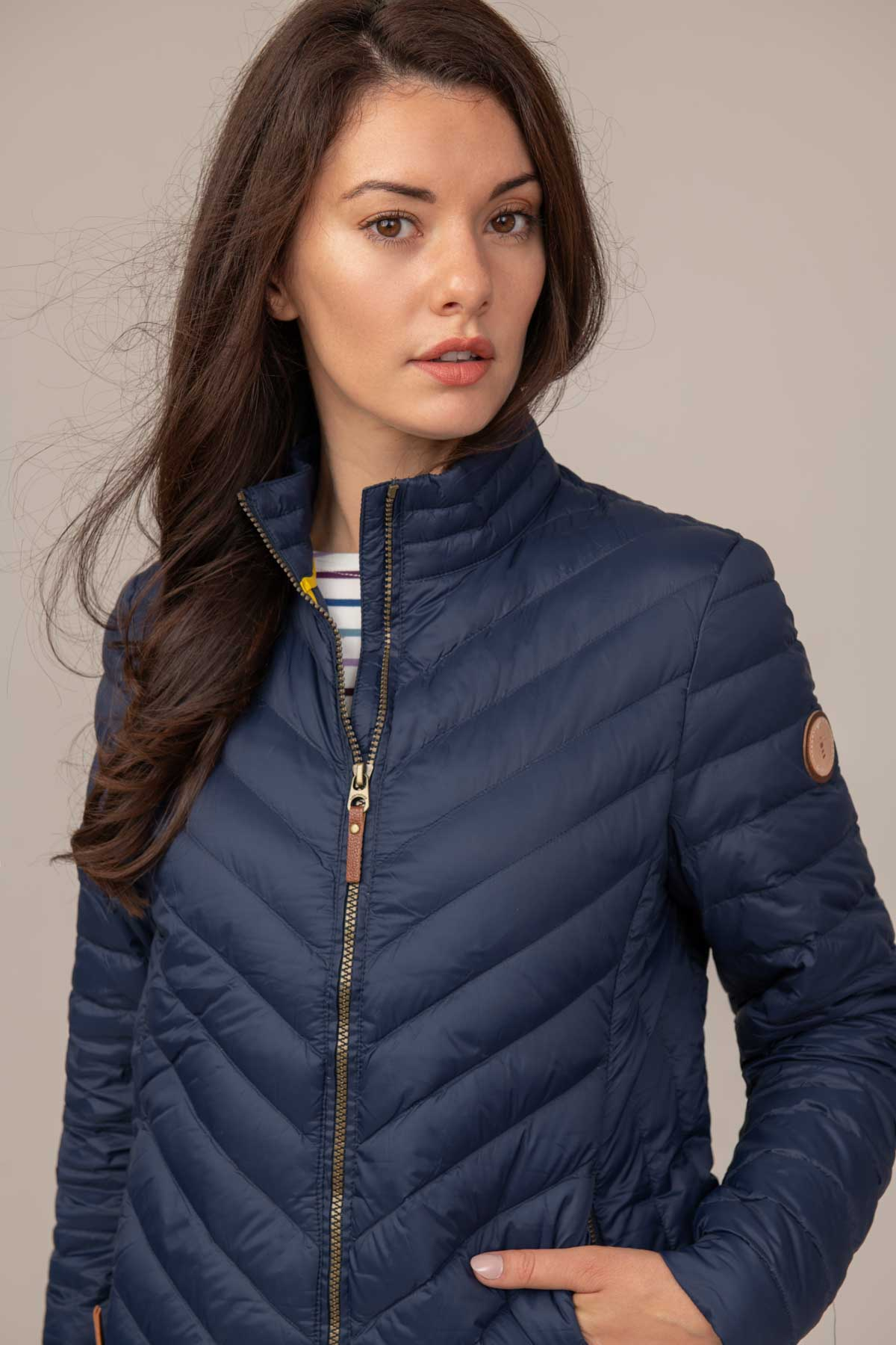 Lighthouse Lara Womens Lightweight Warm Down Jacket - Navy