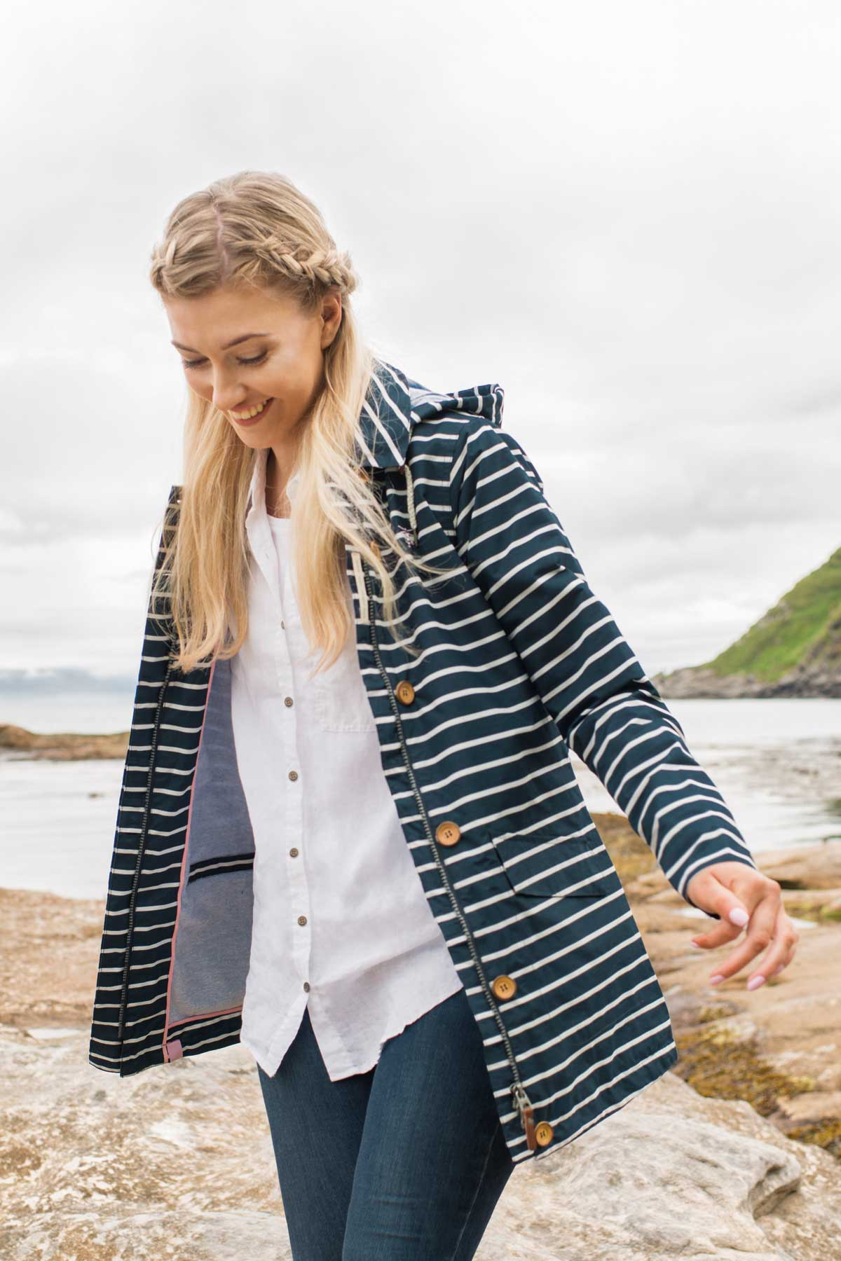 Lighthouse Abby Jacket - Midnight Stripe - Lifestyle