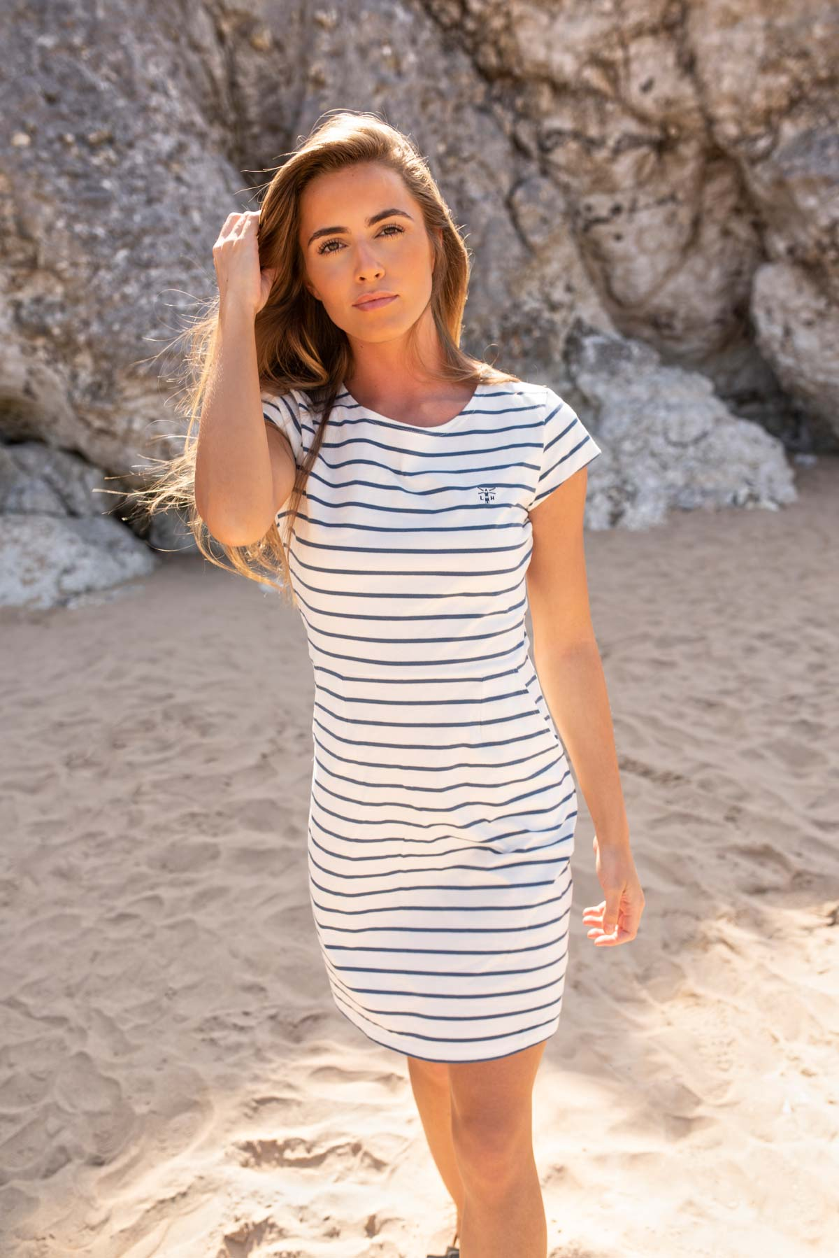 Women's Dresses - Liliana - Breton Striped Dress