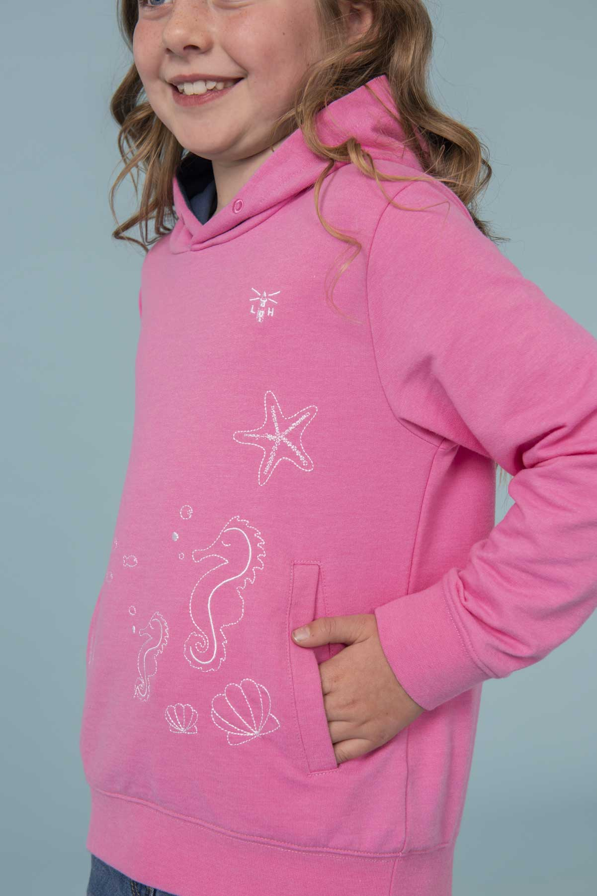 Girl's Tops - Lily - Pink Hoodie
