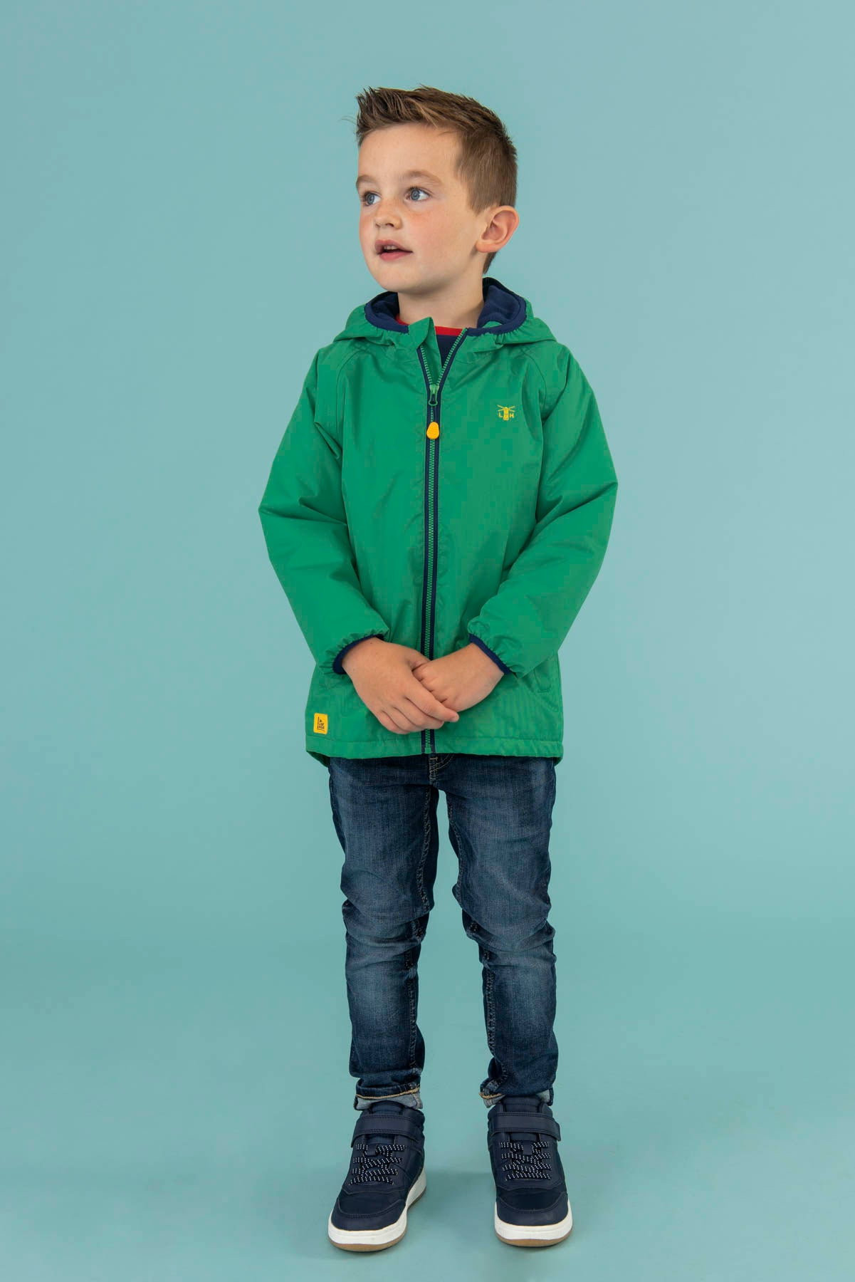 Lucas Coat - Green, Boy's Warm Raincoat | Lighthouse