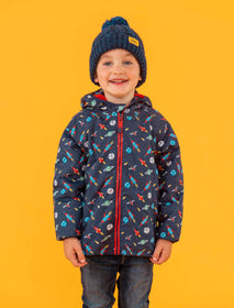 Lucas Coat - Rocket Print