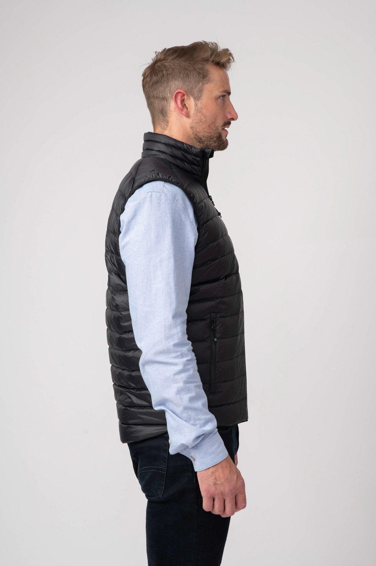 Alpine Mens Down Gilet - Jet Black
