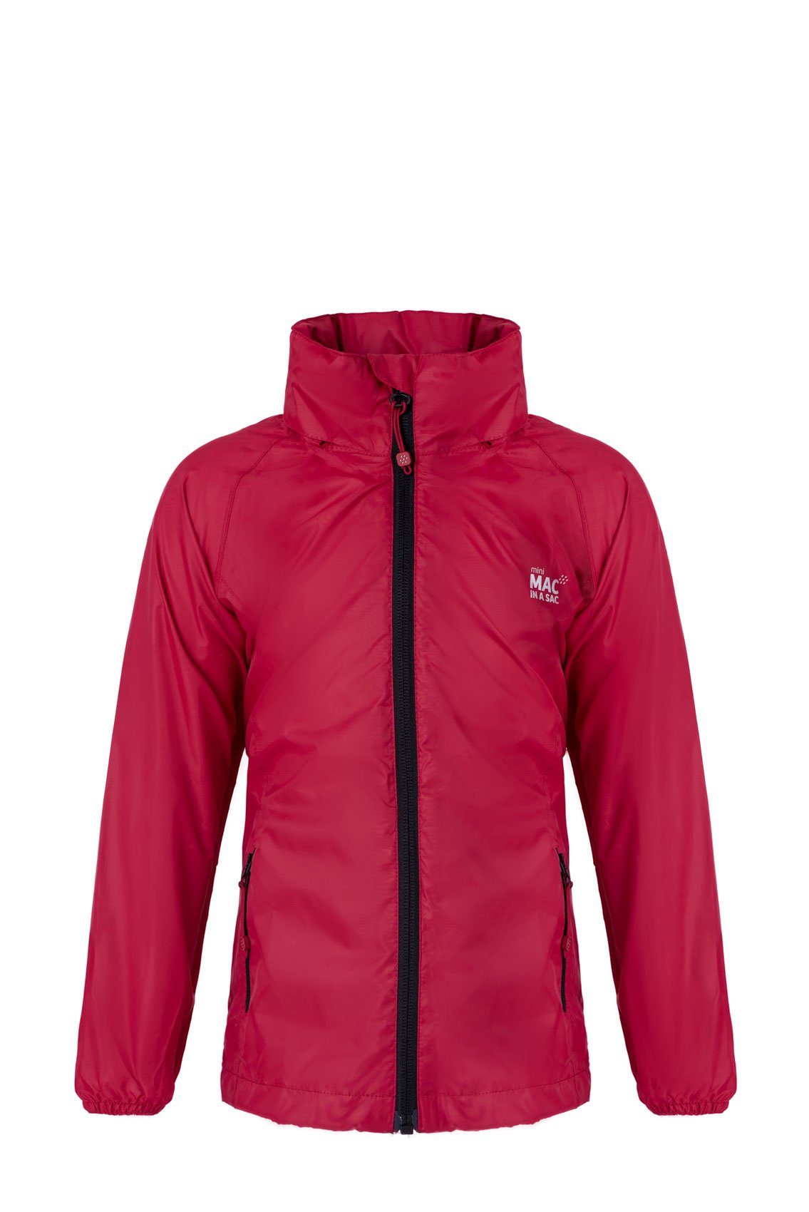 Kids Packable Waterproof Jacket - Red