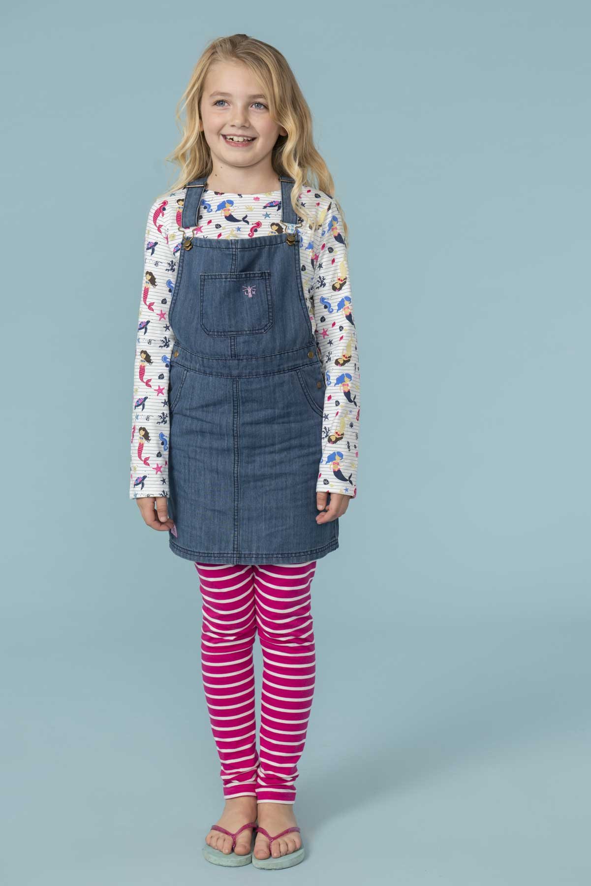 Girl's Dresses - Maisie - Washed Denim Pinafore