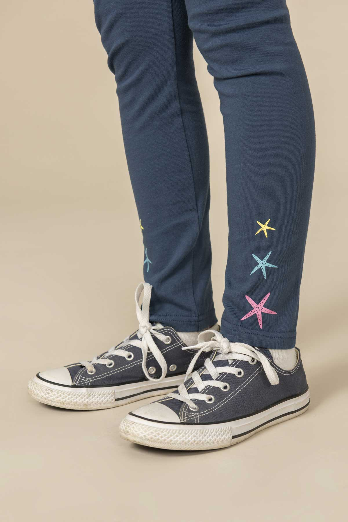 Girl's Leggings - Mollie - Navy Star Fish Leggings