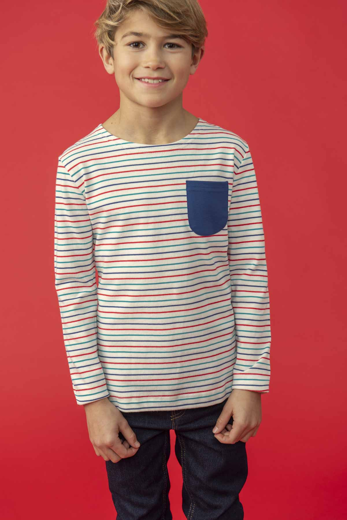 Lighthouse Noah - boys Long Sleeve Top - Multi-stripe