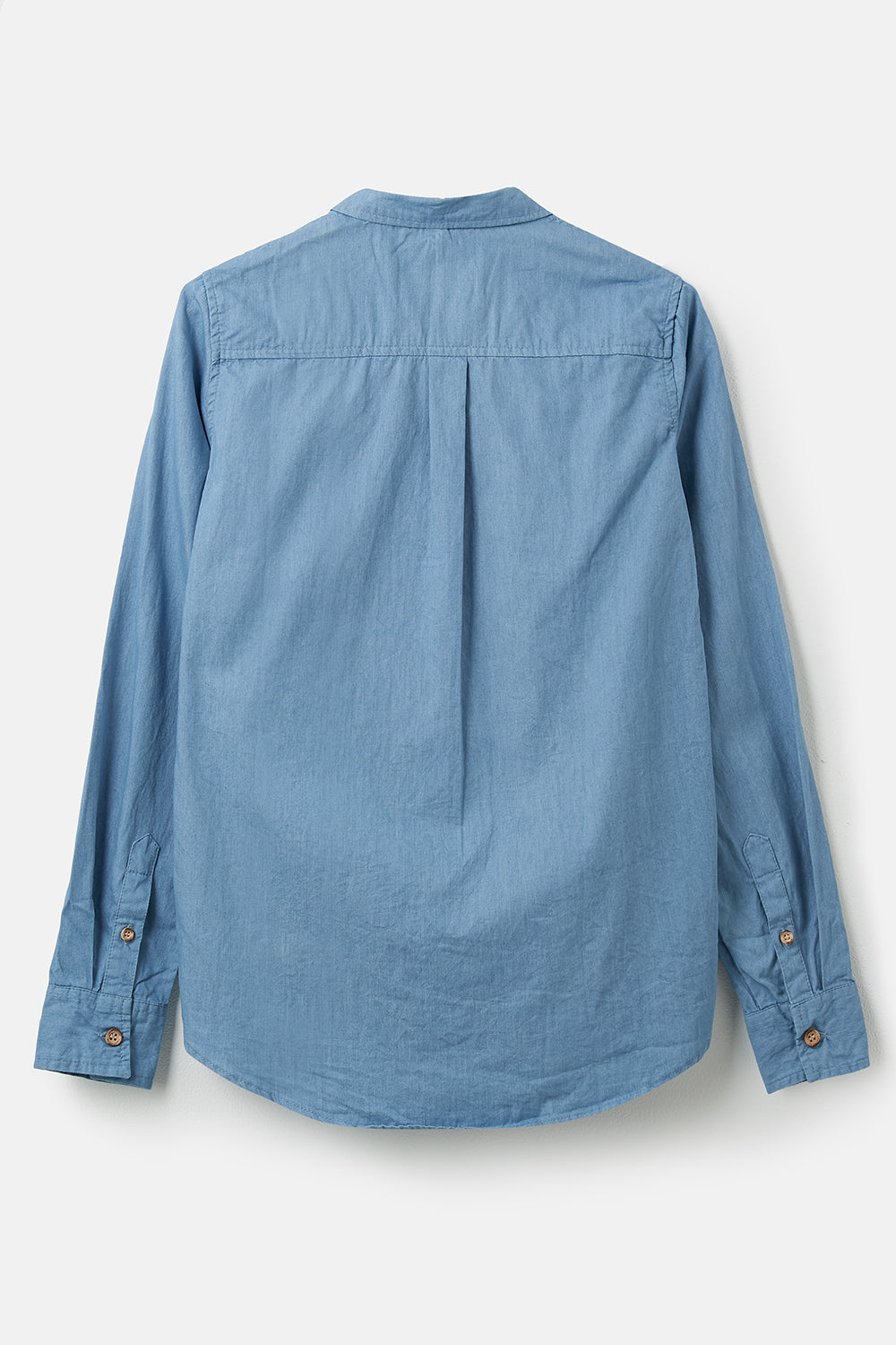 Lighthouse Ocean - Womens Button Up Shirt - Denim