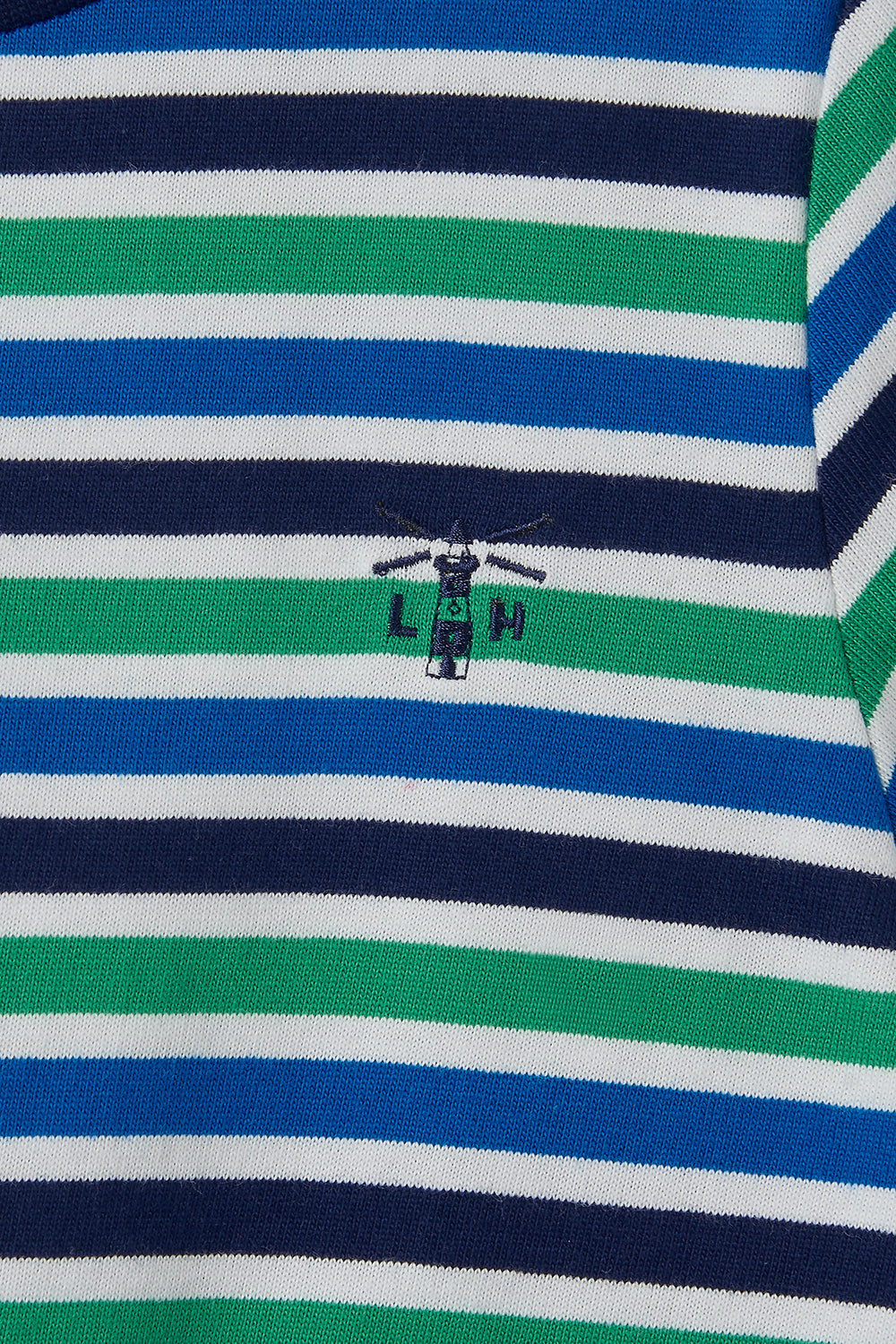 Oliver Short Sleeve - Pea Green Eclipse Stripe