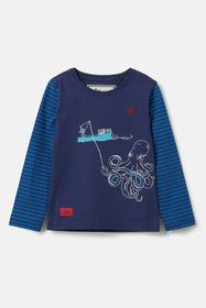 Oliver Top - Boat Octopus Appliqué