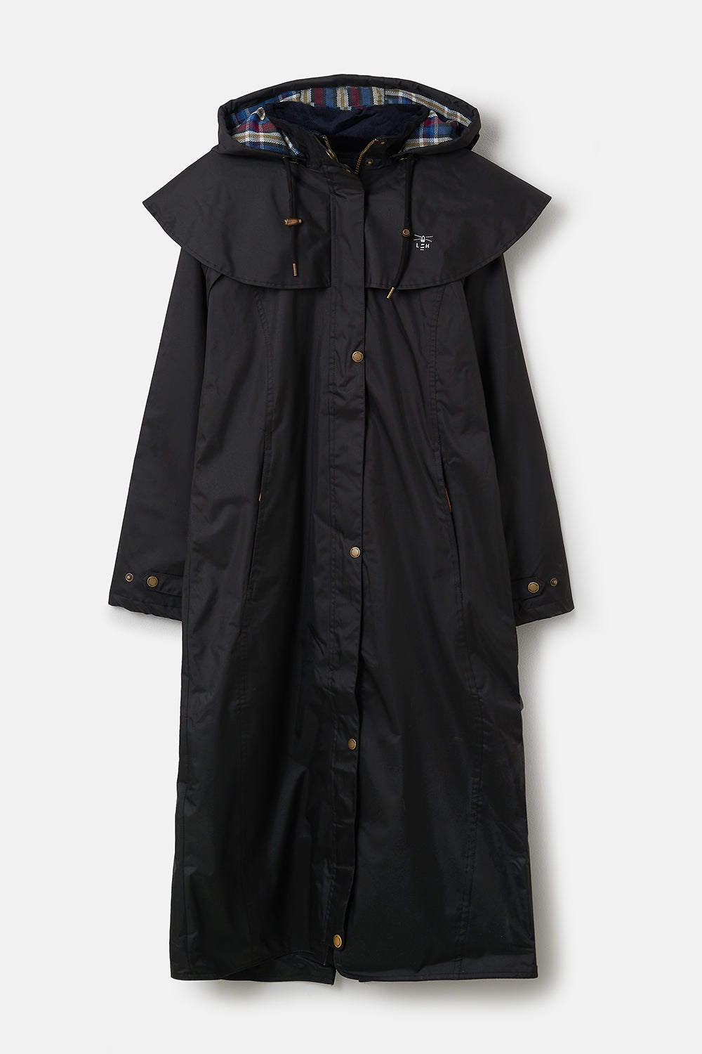 Lighthouse Outback Womens Full Length Waterproof Raincoat - Black
