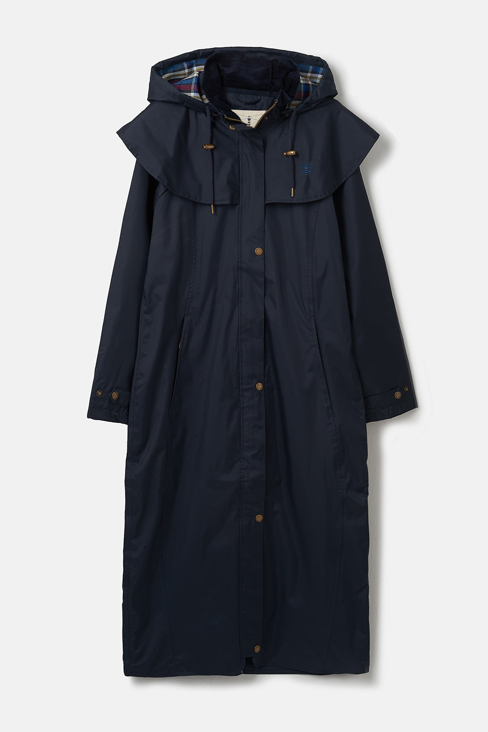 Lighthouse Outback - Womens Full Length Raincoat - Navy