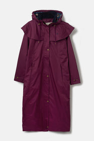 Outback Full Length Waterproof Raincoat - Plum