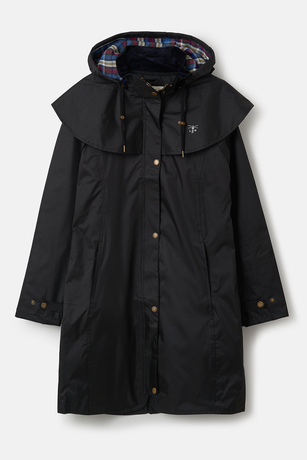 Outrider 3/4 Length Waterproof Raincoat - Black