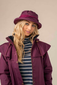 Canterbury Cloche Hat - Plum