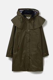 Outrider 3/4 Length Waterproof Raincoat - Fern