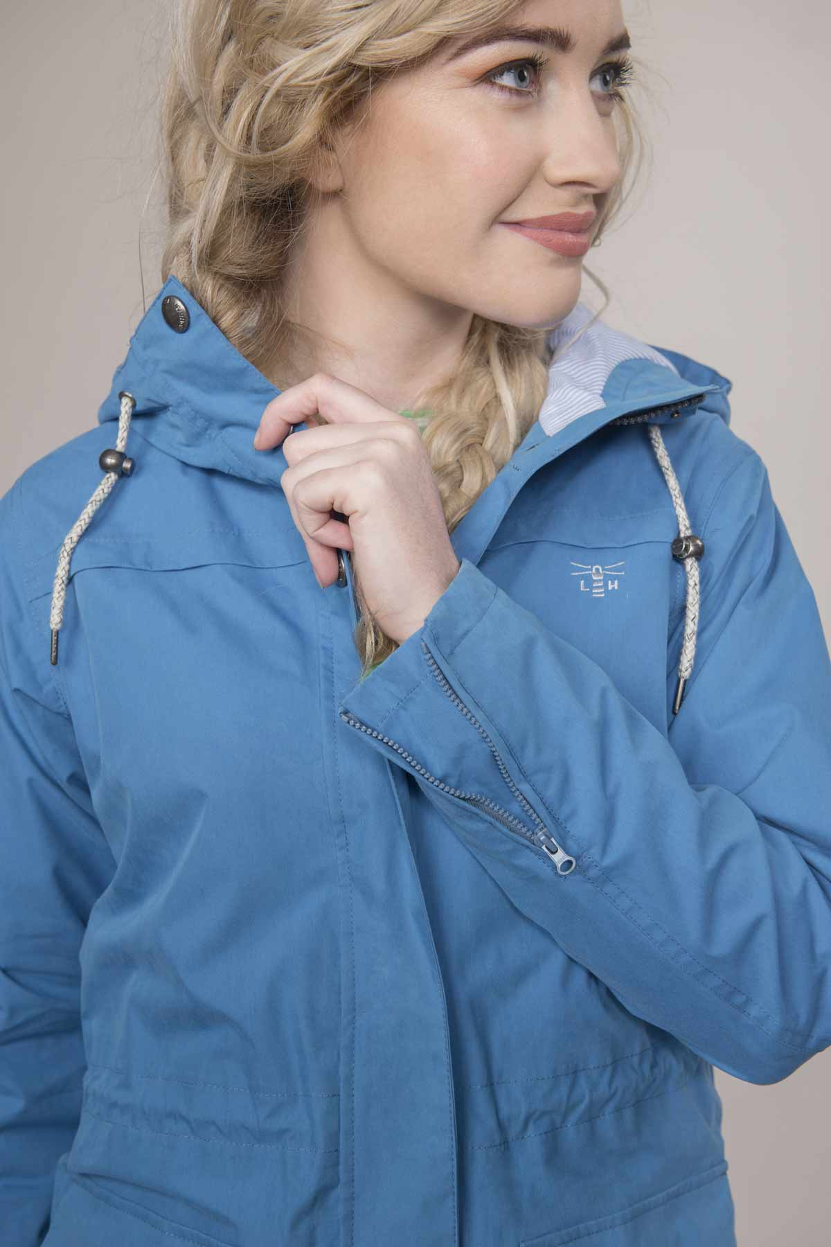 Lighthouse Paige blue women's waterproof parka